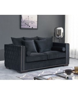 Moscow 2 Seater Sofa - Black