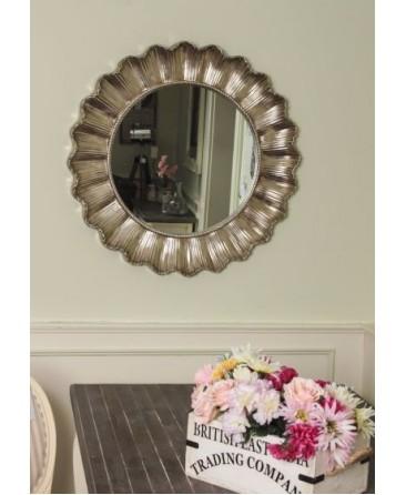 Sunburst Mirror Silver