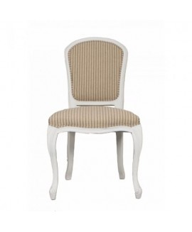 Annabelle Dining Chair - White/ Natural Stripe