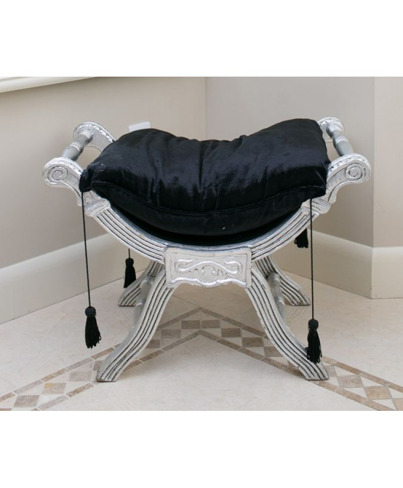 Marvelous French Window Seat Silver Black Theyellowbook Wood Chair Design Ideas Theyellowbookinfo