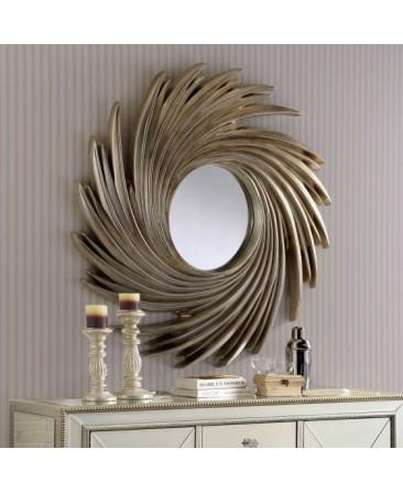 Swirl Mirror - Silver