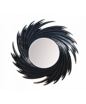 Swirl Mirror - Black