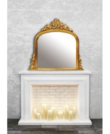 Overmantle Mirror - Gold