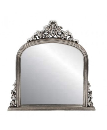 Overmantle Mirror - Silver