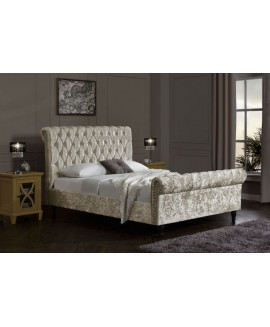 Chesterfield Velvet Bed - Oyster