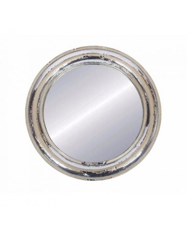 Round Mosaic Glass Tile Mirror