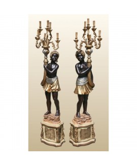 Blackamoor Lamps 1 Pair