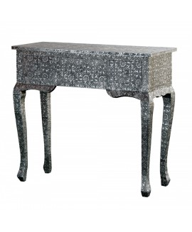 Chaandhi Kar Silver Embossed - Chaandhi Kar Black-Silver Embossed 3-Drawer Console Table