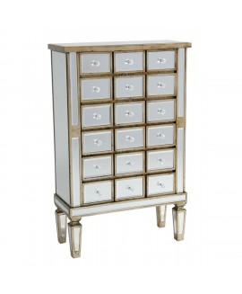 Vintage Venezia - Vintage Venezia Antique Silver Wooden Cabinet